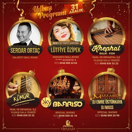 Lords Palace Hotel Kıbrıs Yılbaşı 2019