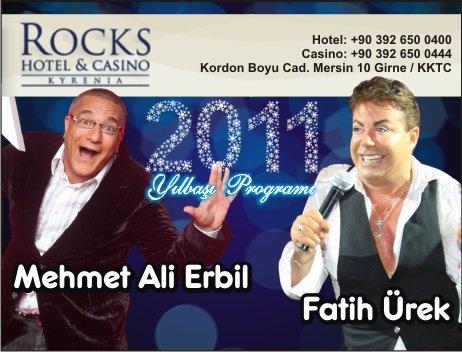 Fatih Ürek, Tıpatıp Show ve Mehmet Ali Erbil 2011 Yılbaşında Rocks Hotel